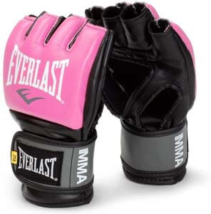 8. Everlast Pink Women's Pro Style Gripping Training Gloves