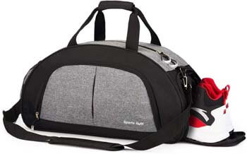 4. Sports Gym Bag with Wet Pocket & Shoes Compartment