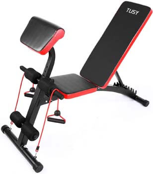 10. TUSY Adjustable Weight Bench